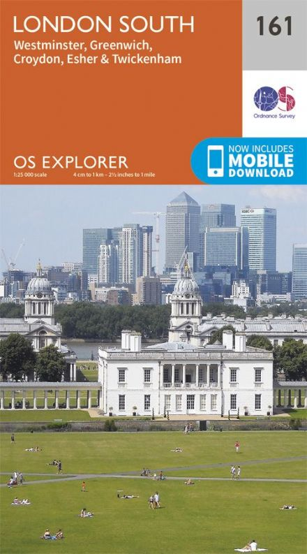 OS Explorer 161 - London South, Westminster, Greenwich, Croydon, Esher & Twickenham